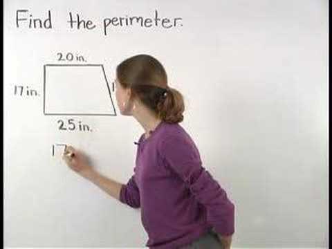 Perimeter of Trapezoids