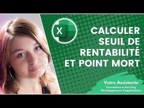 Calculer un seuil de rentabilité et un point mort sur Excel