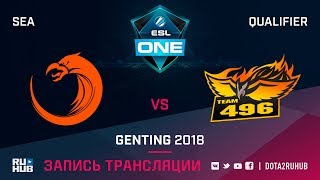 TNC vs 496Vikings, ESL One Genting SEA Qualifier, game 1 [Lex, 4ce]