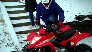 8. The kids got a new ride ... a 2011 Kymco Mongoose 90!