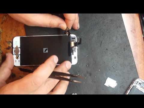 Как самому поменять стекло на iphone 5s