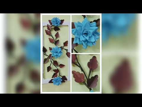 Blue rose frame wall decor/Crazy Arts and Crafts