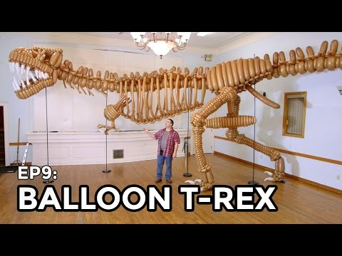 Your Next Birthday Party Needs This Life-Size Balloon Animal T-rex Skeleton