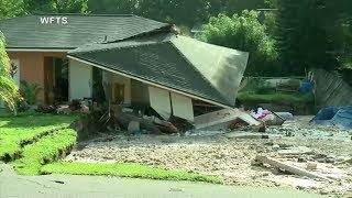 Es verschlang eineinhalb Wohnhäuser und ein Boot: Ein großes Loch, das sich in Florida in der Erde auftat, hat immensen Schaden angerichtet.