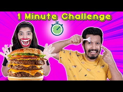 1 Minute Challenge | Funniest One Minute Challenge | Hungry Birds