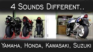 3. Exhaust Sound !!! Yamaha r1'13, Honda cbr600rr'09, kawasaki z1000 SE'14, Suzuki Gsx1400'07
