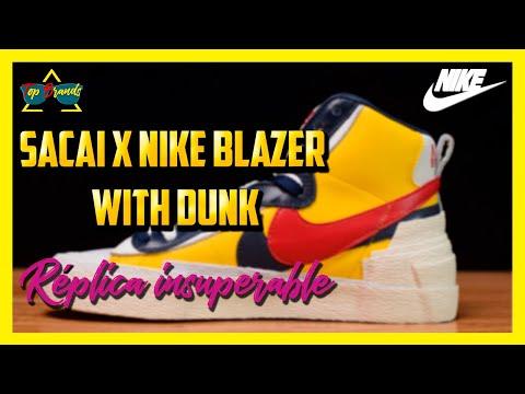 Modelos de uñas -  Réplica Sacai X Nike Blazer with Dunk