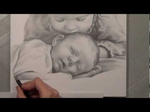 Kinder – Bleistiftportrait. Realistisch Zeichnen. speed painting.Portrait drawing. Painting.