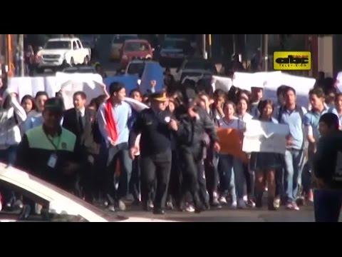 Marcha de estudiantes secundarios