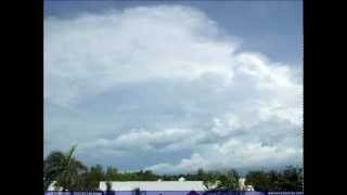 Cumulonimbus clouds visible from Cable Beach, Australia (time-lapse) - February 22, 2012