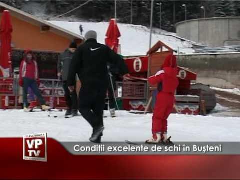 Condiţii excelente de schi în Buşteni