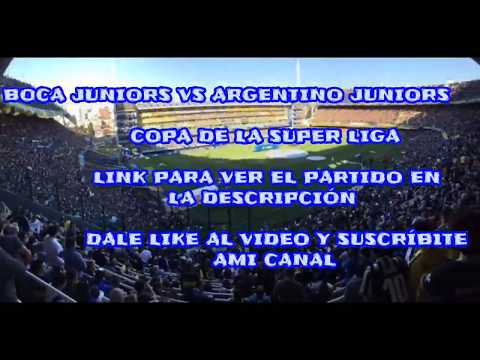Boca Juniors Vs Argentinos Juniors (EN VIVO)