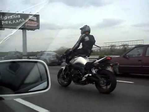 Nuts - This motorcycle rider has some serious stunt driving skills. Check out some of his highway hijinks! www.livetorideharley.com.