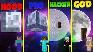 Minecraft NOOB vs. PRO vs. HACKER vs. GOD: MOON BASE TNT WARS in Minecraft!