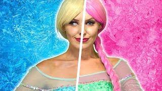 DISNEY PRINCESS CRAZY TWINS. Will Elsa, Anna, Rapunzel Aurora and Belle Be Good or Bad?