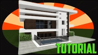 MINECRAFT : how to build modern house | tutorial | Easy - Stylish - Compact ! ( 1.11 ) 2016