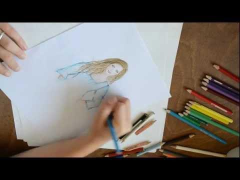 portrait zeichnen mit buntstiften