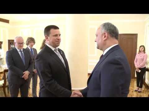Președintele Republicii Moldova a avut o întrevedere cu prim-ministrul Republicii Estonia