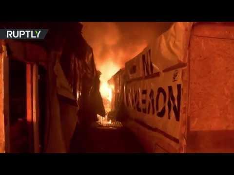 Novi požari u izbegličkom naselju Džungla u Kaleu