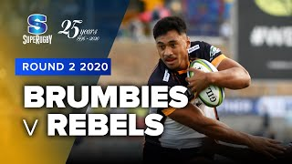 Brumbies v Rebels Rd.2 2020 Super rugby video highlights | Super Rugby Video Highlights