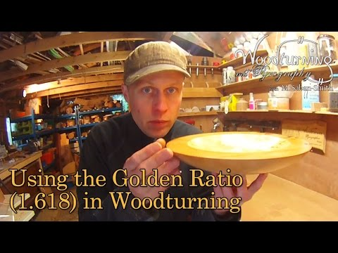 #37 How to Use the Golden Ratio (1.618) in a Woodturning Bowl (видео)