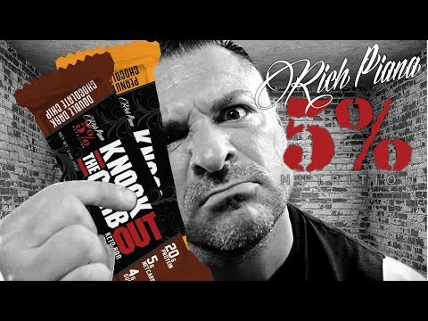 Rich Piana 5% Nutrition Knock The CARB Out // KETO BAR REVIEW