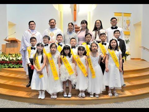 Các em Rước Lễ Lần Đầu June 3, 2018 Giáo Xứ Thánh Minh-Winnipeg