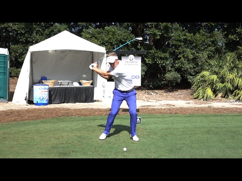 LUKE DONALD 120fps SLOW MOTION FACE-ON DRIVER GOLF SWING