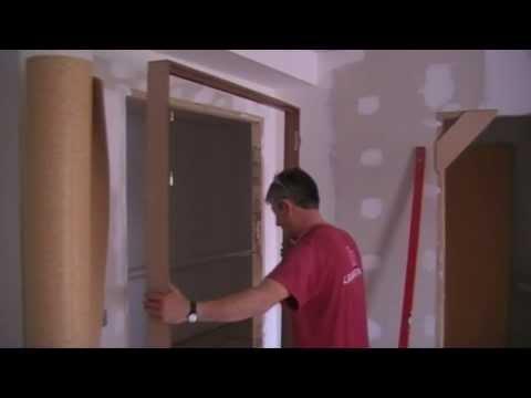 How to install a door - Como instalar una puerta.