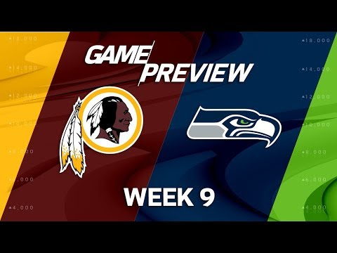 Video: Washington Redskins vs. Seattle Seahawks | NFL Week 9 Game Previews | Move the Sticks