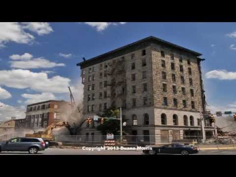 Sterling - This is a time lapse video of the Hotel Sterling demolition in Wilkes-Barre, PA. Video shot of a two day period in July 2013. Was aired on WNEP The News Stat...