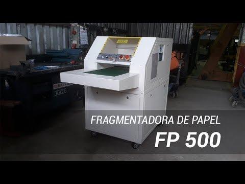 Fragmentadora de papel industrial FP 500 em fábrica