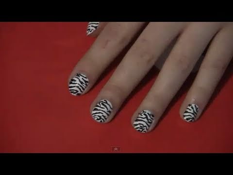 How to : zebra print nail art tutorial