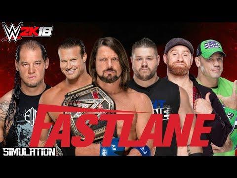 Fastlane 2018 | WWE Championship 6 Man Pack Challenge Match | WWE2K18 Simulation