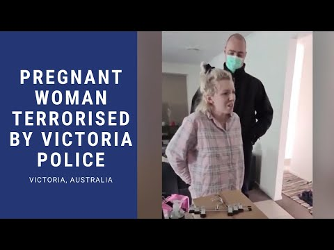 Politie-inval en arrestatie zwangere vrouw voor het creëren van een Facebook-evenement over COVID-19 Lockdown