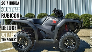 1. 2017 Honda Foreman Rubicon 500 DELUXE DCT / EPS Review of Specs | TRX500FA7 FourTrax ATV 4X4
