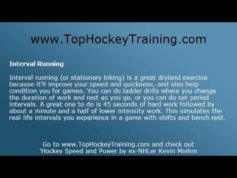 Hockey Drills – Off Ice Fitness and Skating Drills to Improve Speed and Power