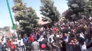 Ethiopians hold demonstrations in Addis Ababa to express their anger over ISIS killings