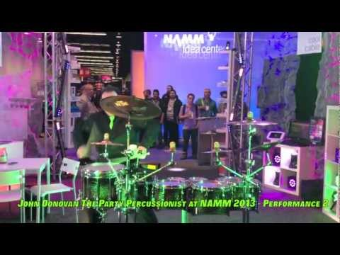 john donovan - http://www.JohnDonovan.Biz NAMM 2013 debut of DCI World Champion John Donovan the Party Percussionist with Blizzard Lighting in Anaheim, California. Special ...