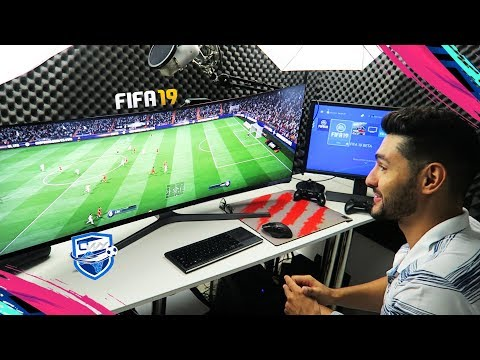 FIFA 19 ULTIMATE TEAM READY - MY GAMING SETUP TOUR !!!