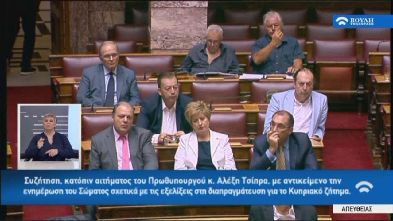Π.Καμμένος(Υπ.Άμυνας-Πρ.ΑΝΕΛ)(Ενημέρωση για το Κυπριακό)(11/07/2017)