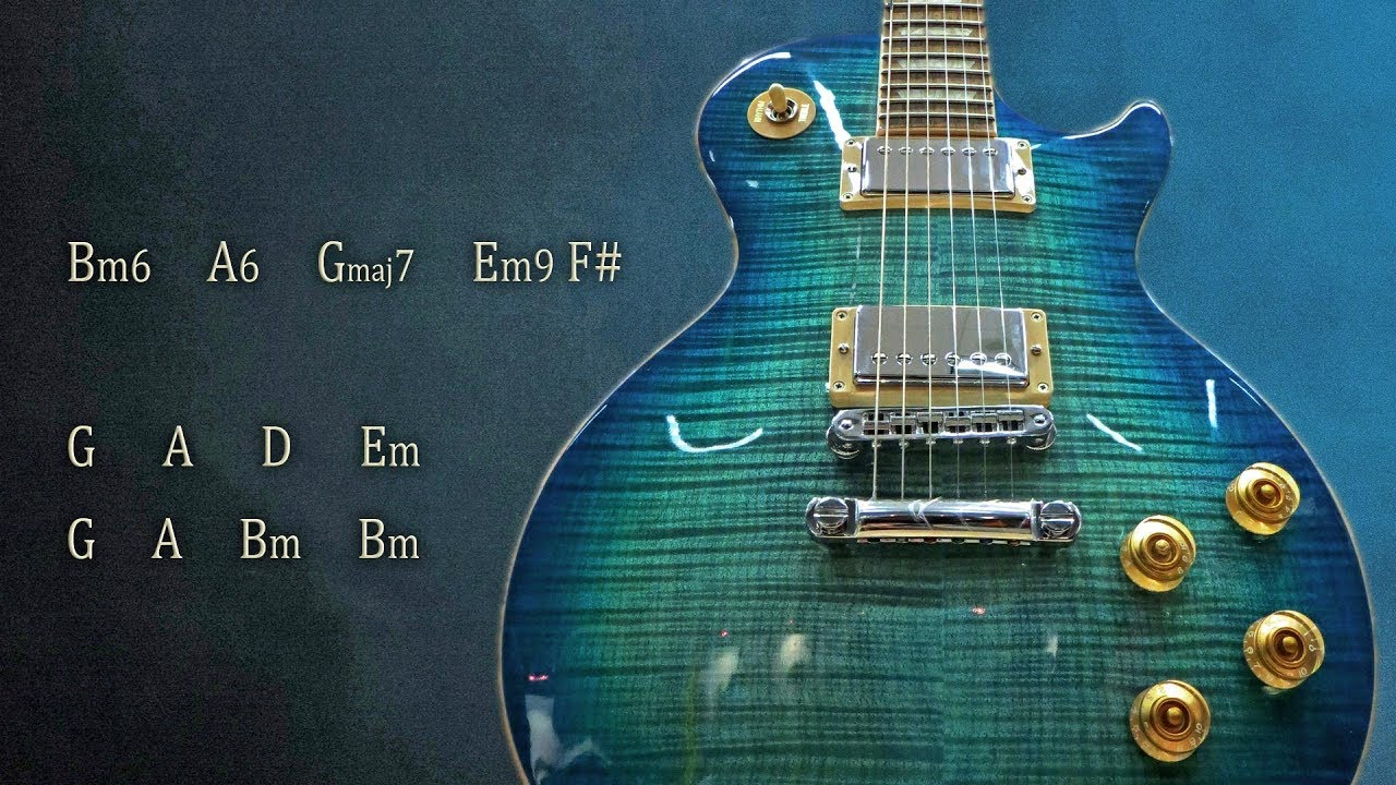 Slow Electric Guitar Ballad Backing Track B Minor