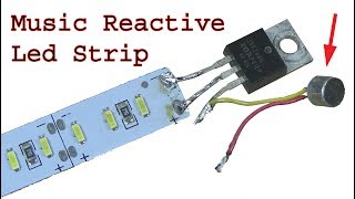 Make music reactive Led lights using mosfet, sensitive sound detector