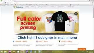 Designing can be difficult without sufficient knowledge in graphics software.Since your design is the most important thing to get started, we have developed an application that will help you materialize your design ideas. This app is capable of executing your design in minutes!It's so easy and fun to use!Below is a step by step tutorial on how to use our online T-shirt designer.We look forward to seeing your creativity printed on your very own shirts!
