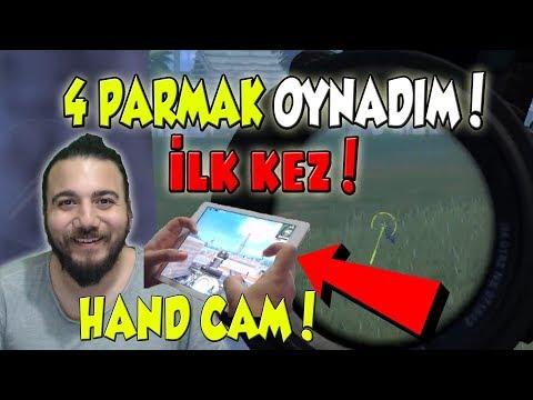 İLK KEZ MOBİLEDEN OYNADIM! HEM DE 4 PARMAK! PUBG Mobile Gameplay Handy Cam Türkçe