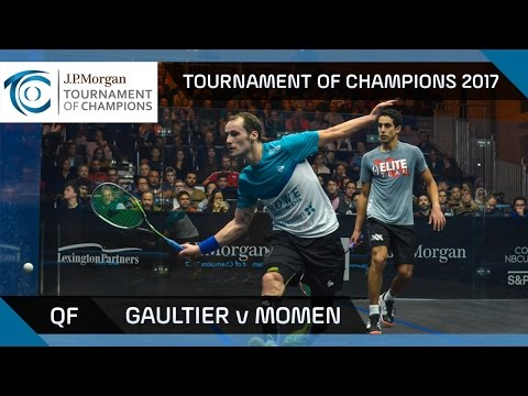 Squash: Gaultier v Momen - Tournament of Champions 2017 QF Highlights