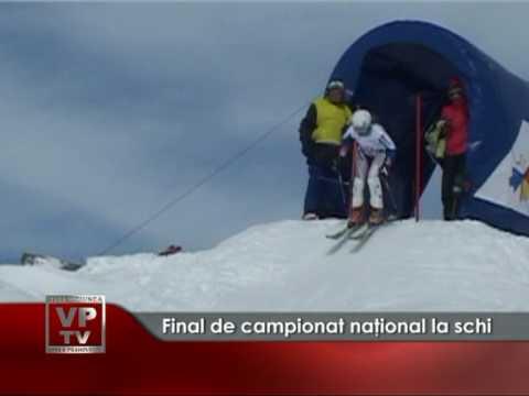 Final de campionat naţional la schi