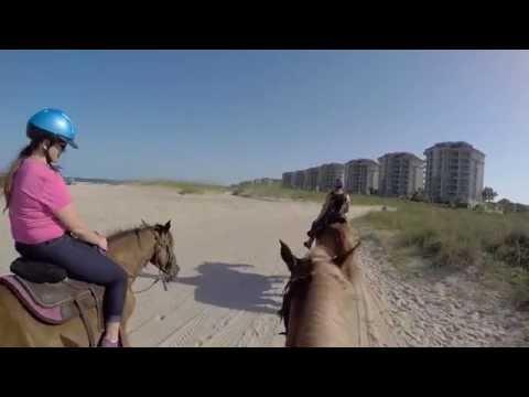 Horseback Riding on Beach - GoPro