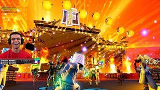 Nick Eh 30 reacts to the Fortnite Marshmello Event! (Concert in Pleasant Park)