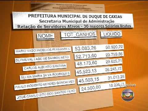 Folha de pagamento em Duque de Caxias revela salários de servidores acima de R$ 50 mil